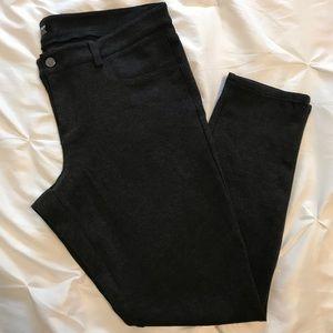 Mossimo charcoal gray stretch skinny pants sz 16